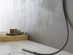 Adore these plaster walls for the bathroom - nice change from tiles but wonder what price point is. HYDRO Collezione HYDRO by VIERO Waterproof Paint, New Surface, Tadelakt, Tiles Texture, Wall Finishes, Plaster Walls, Concrete Wall, Floating Nightstand, Houses