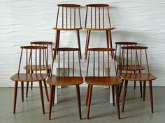 Vintage J77 Teak Chairs by Folke Palsson 2