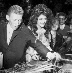 Dalida et Lucien Morisse marié en Avril 1961, après une longue cour engagée émergé engagement professionnel entre le couple