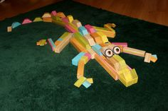 I love TEGU! Check out what you can do with something as simple as wooden blocks with embedded magnets: THE TEGUGATOR!! #TeguBlocks #CreativeKids