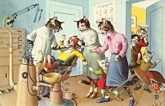 Веселенькая котовасия от Alfred Mainzer. Обсуждение на LiveInternet - Российский Сервис Онлайн-Дневников