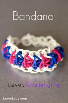 How to make a Bandana Bracelet - Rainbow Loom Video Tutorial