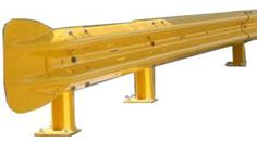 1.6m Armco Beam Powder Coated Yellow  - Armco Road Safety Barrier Systems