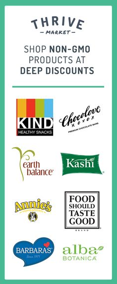 Looking for the best-selling non-GMO foods and healthy products? At Thrive Market, we're committed to your good health and well-being. Shop the top non-GMO brands and items at 25-50% off retail every day! See how much you can save today!