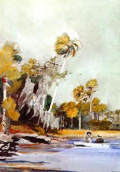 Le tas de Shell, aquarelle de Winslow Homer (1836-1910, United States)