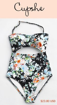 New Arrivals! Live Life On The Beach With Cupshe Tender Night Print Bikini Set~ Comfortable fabric & removable halter & charming cut-out design; All these gonna let you be the shinest at beach! Shop Now!