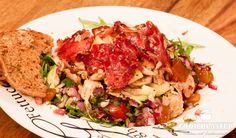 Rucolasalat mit Hähnchen und Schinken #salat #food