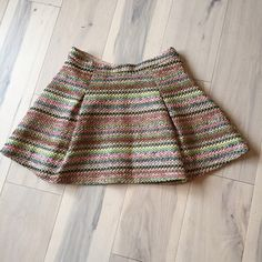 Spotted while shopping on Poshmark: Honey Punch neon woven tweed pleated mini skirt! #poshmark #fashion #shopping #style #Honey Punch #Dresses & Skirts