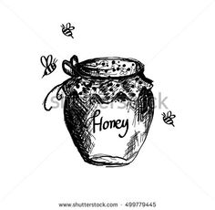 Honey jar hand drawn vector art, background, bee, bio, black, breakfast, cartoon, collection, delicious, dessert, doodle, drawing, drawn, engraving, flower, food, fresh, glass, hand, health, healthy, hive, honey, honeyed, icon, illustration, ink, insect, isolated, jam, jar, natural, nature, nutrition, object, organic, pot, product, retro, set, sketch, summer, sweet, tasty, vintage, white