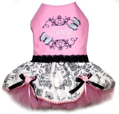 Personalized Pink Butterfly Dress