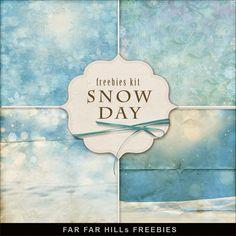 alleen afbeelding, niet een hele pagina  New Freebies Kit of Backgrounds - Snow Day