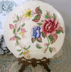 Crown Ducal Ware Dell 5636 Floral Dinner Plate(s) #CrownDucalWare
