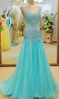 Prom Dresses,Evening Dress,blue prom dress, long prom #prom #promdress #dress #eveningdress #evening #fashion #love #shopping #art #dress #women #mermaid #SEXY #SexyGirl #PromDresses