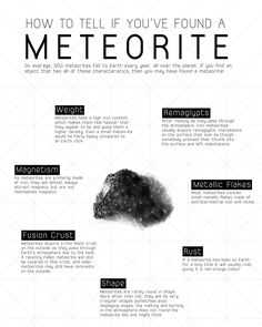 How to tell if you have found a meteorite.