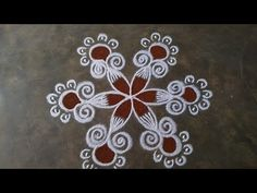 Design Discover Today special rangoli for ugadi pandigai // easy and simple design//kaalai thendral kolangal Simple Rangoli Border Designs, Simple Rangoli Kolam, Rangoli Designs Latest, Rangoli Designs Flower, Free Hand Rangoli Design, Rangoli Borders, Small Rangoli Design, Rangoli Kolam Designs, Rangoli Designs With Dots