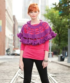 "Free pattern for ""Petticoat Poncho""!"