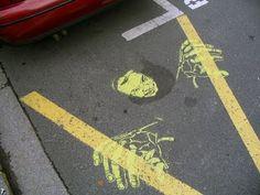 creative art on Road - Street Art