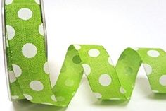 Bertie's Bows Lime Polka Dot Burlap 25mm Ribbon on a 2m length (N.B. this is a cut from a roll)