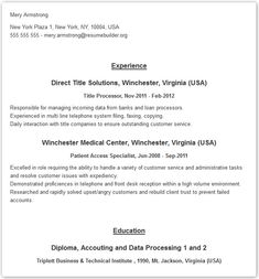 Pin By Resume Design Experts Llc On Resume Templates And Examples