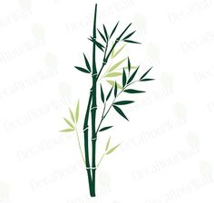 Large Bamboo tree Branch Removable Vinyl Wall di decalyourwall