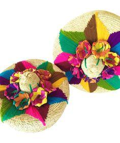 Woven Decorative Embellished Baskets, Set of 2
