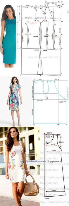 Простые выкройки летних платье