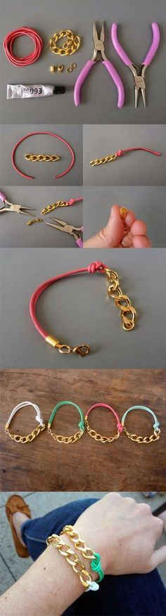 Another photo that shows how to create the bracelets and necessary material for that. If you have good will go ahead.