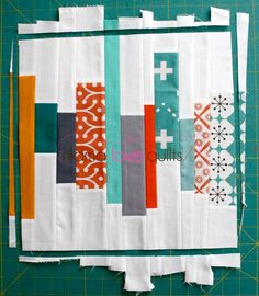 "Scrap Strip Quilt Block Tutorial for 12.5"" block"