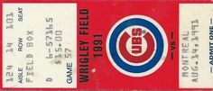 Montreal Expos vs. Chicago Cubs, Wrigley Field 10/14/1991