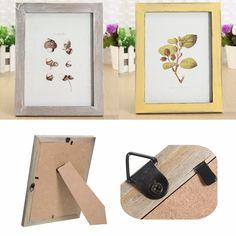 8 pulgadas de madera de la vendimia de madera sólida marco de fotos de pared colgando la decoración de la habitación chic lamentable