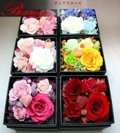 【楽天市場】【送料無料】バラが魅力な Boxローズ誕生日、結婚祝い、ブライダル、出産祝いなどのプリザーブドフラワーギフト。【smtb-s】:フラワーデザインVotrefleur