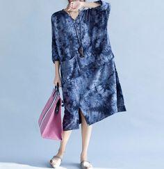 Women romantic Loose fitting Long dress fashion Women maxi dress in brown dress Dark blue dress by MaLieb on Etsy https://www.etsy.com/listing/102294294/women-romantic-loose-fitting-long-dress
