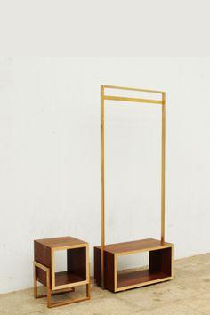 Duo | Colectivo de Melhoramentos Multifunctional Furniture, Small Furniture, Metal Furniture, Furniture Design, Staircase Storage, Hanging Racks, Shop Interiors, Furniture Inspiration, Organizer