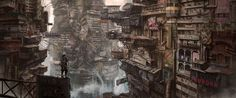 Concept Style and Looks of buildings on Aircraft Carrier 2 - Sci-Fi...