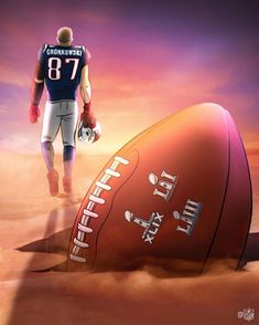 Rob Gronkowski, TE - New England Patriots. Nfl New England Patriots, New England Patriots Football, Patriots Fans, Gronk Patriots, Nfl Football Players, World Football, Football Memes, Football Art, Football Things