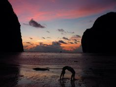 nothing beats doing a bit of yoga on maya beach during sunset. thailand 2011