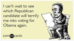 I'll vote for President Obama again anyway but, they are a scary bunch, aren't they?