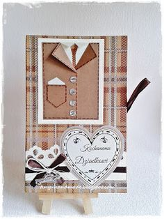 Czekoladownik na Dzień Dziadka Handmade Cards, Chocolate, Craft Cards, Chocolates, Diy Cards, Brown, Homemade Cards, Card Making Inspiration, Handmade Crafts