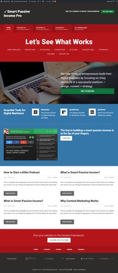 Smart Passive Income Pro (SPI) is a versatile WordPress theme developed by StudioPress. This is one of the best genesis child theme inspired with the help Way To Make Money, Make Money Online, Content Marketing, Digital Marketing, What Is Smart, Ethereum Mining, Best Wordpress Themes, Online Jobs, Passive Income