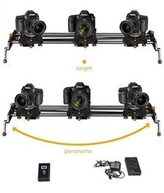 Digislider 2 Axis AutoPan Motorized Video  Time Lapse Camera Slider  32 in  for Canon Nikon Panasonic GH range and Sony A7 range -- Want to know more, click on the image-affiliate link.