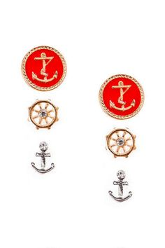 Nautical Stud Set... so cute! I would love these for the summer!