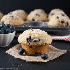 These buttery and moist blueberry muffins are just as gorgeous and delicious as the ones you find at the gourmet bakery shops. Quick and easy to make...