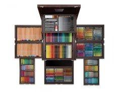 Artist requirements - Treasure Chest Of Colour Anniversary - stationery stash Colores Faber Castell, Cool School Supplies, Diy Rangement, Caran D'ache, Treasure Chest, Drawing Tools, Colored Pencils, Stationery, Anniversary