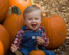 My second session in the pumpkin patch was Matthew - this cutie was quick to smile and was laughing so hard it rocked him back! Love, love, love the two little teeth showing in this one, when he sm...