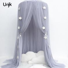 Fine Ins Summer Net Bedding Mosquito Net Round Dome Cotton Curtain Chiffon Pennant Fringed Mosquito Net Dome Bed Mosquito Home Textile Bedding