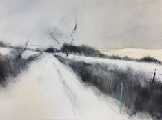 Graphite, watercolour, oil and gesso on paper. Landscape Drawings, Watercolor Landscape, Abstract Landscape, Landscape Paintings, Landscape Sketch, Abstract Art, Landscapes, Black And White Painting, Black White Art
