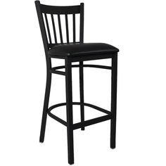 Flash Furniture Burgundy Vinyl Seat/Black Metal Frame Upholstered Bar Stool at Lowe's. The metal barstool is a popular choice for furnishing restaurants, pool halls, lounges, bars and other high traffic establishments. This stool is easy to