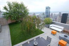 Modern New York City rooftop designed by HMWhite.