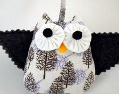 Felt Owl Ornament  Twiggy by quiettimequiltsdc on Etsy, $20.00