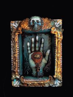 PROTECTIVE HAND. Assemblage Art of Michael deMeng. Every deMeng piece is amazing. ~CAWeStruck